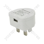 Compact USB Charger 1000mA