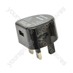 Compact USB Charger 2100mA - Wall - USB-UK121
