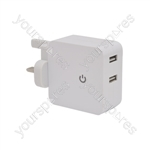 Dual USB Charger - 2 x 2100mA - USB-UK242