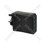 Travel Quad USB Charger - USB-M448
