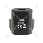 Mini USB Mains Charger 1.0A - USB-UK110v2