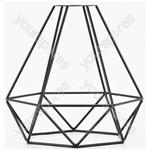 Decorative Lamp Cages - - Diamond - Black - LC-6D