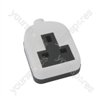 Rubber 1 Gang Trailing Socket - White/Black