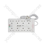 8 gang extension with surge protection & dual USB charger