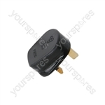 Fused UK Mains Plugs - plug, 13A fuse, black