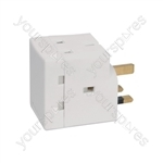 3 Way UK Mains Adaptor - 3-Way - Fused @ 13A