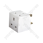 2 Way UK Mains Adaptor - 2-Way
