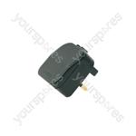 European converter plug - black