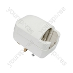 White SCP3 13A rated Euro converter plug- bulk