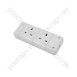 2 Gang Trailing Socket - 13A socket, bulk