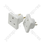 Travel Adaptor Twin Pack - UK to Europe & UK to USA - Adaptors