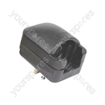 SCP3 Fused European Converter Plug - Black 13A rated plug- bulk