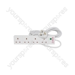 4 Gang Extension Lead with Surge Protection - Home Essentials - UK 2.0m