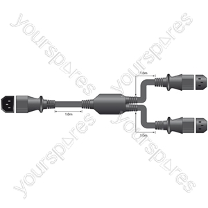 IEC 'Y' Mains Adaptor Lead