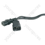 IEC extension mains lead 5.0m