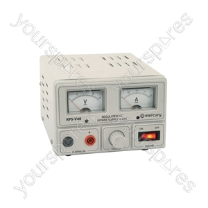 Regulated Power Supply with Variable Output Voltage 0-20V/2A Max - (UK version) 0-20V - RPS-V40