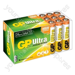 Ultra Alkaline Batteries In Easy Store Upvc Box - AAA 24pk