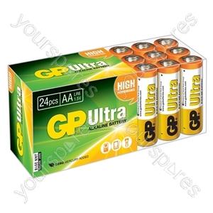Ultra Alkaline Batteries In Easy Store Upvc Box - AA 24pk