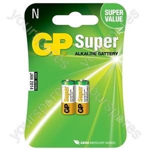 Alkaline batteries, N, 1.5V, packed 2 /blister