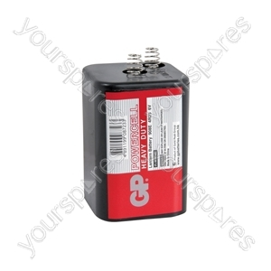 GP Powercell PJ996 Magnesium Oxide - GP® Battery, GP908 (PJ996, 4R25), 6V, 66.0x66.0x111.0mm, 1pc/pack