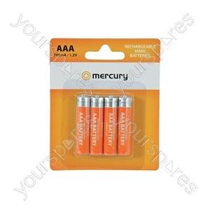 NiMH Rechargeable Batteries - AAA 700mAh battery/4 - AAA07