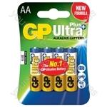 GP Ultra+ Alkaline Batteries - batteries, AA, 1.5V, packed 4/blister
