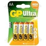 Alkaline batteries, PP3, 9V, packed 1/blister