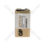 GP Ultra Alkaline Batteries - batteries, PP3, 9V, packed 1/blister