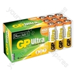 Ultra Alkaline Batteries In Easy Store Upvc Box - AA 24pk