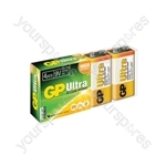 Ultra Alkaline Batteries In Easy Store Upvc Box - PP3 4pk