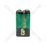 GP Greencell Zinc Chloride Batteries - battery, PP3, 9V, packed 1 per blister