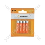 NiMH Rechargeable Batteries - AAA 700mAh battery/4 - AAA07