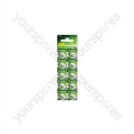 LR43 (186) Alkaline Button Cell - 10 Pack - 10pk