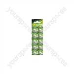 LR55 (191) Alkaline Button Cell - 10 Pack - 10pk