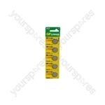 Lithium Button Cells - CR2032, 3V, 210mAh, 3.2 x 20mmØ 5pc/card