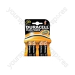 Duracell Plus Power Alkaline Batteries - AA - 4 Pack