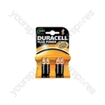 Duracell Plus Power Alkaline Batteries - AAA - 4 Pack