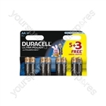 Duracell Power Plus AA Pack of 5+3
