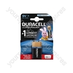 Duracell Ultra Plus Alkaline Battery - Power PP3 Pack of 1
