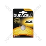 Duracell Lithium Coin Cell Battery - CR2025 Card of 1