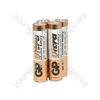 GP Ultra Alkaline Batteries - batteries, AAA, 1.5V, packed 4/ blister