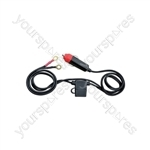 Inverter Lead - Car 12V adaptor to Ring Terminals - Cigar Lighter