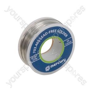 Lead-free Solder - solder, 0.6mmØ, 100g, 65m reel