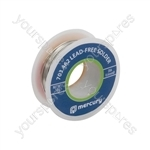 Lead-free Solder - solder, 0.6mmØ, 50g, 32.5m reel
