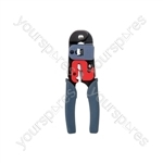 RJ45 (8P8C) Crimp Tool - RJ-45 Crimping and Wire Stripper