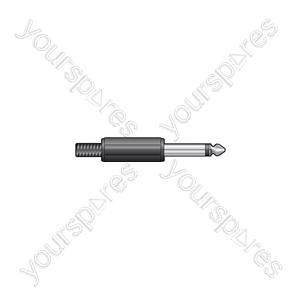 6.3mm mono plug, plastic