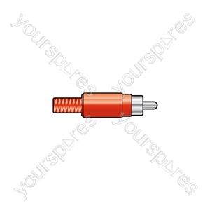 RCA plug, plastic, Red