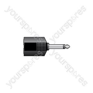 6.3 Plug - 2 x 6.3 Skt