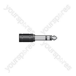 6.3mm Stereo Jack Plug to 3.5mm Stereo Jack Socket - - Skt