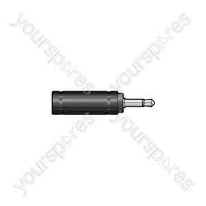 3.5mm Mono Jack Plug to 6.3mm Mono Jack Socket - WE1187A Adaptor